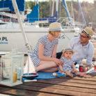 sesja rodzinna na łódkach