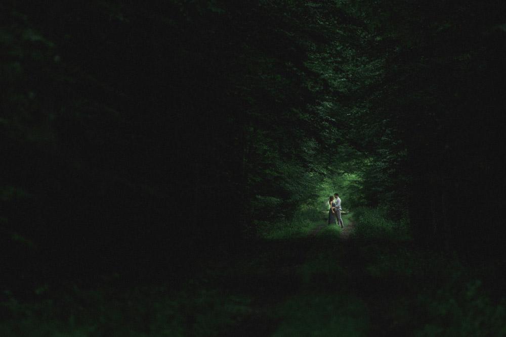 sesja w ciemnym lesie