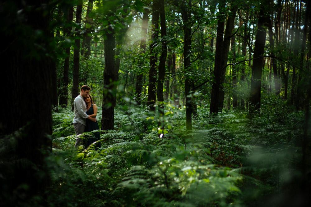 zdjęcia w lesie