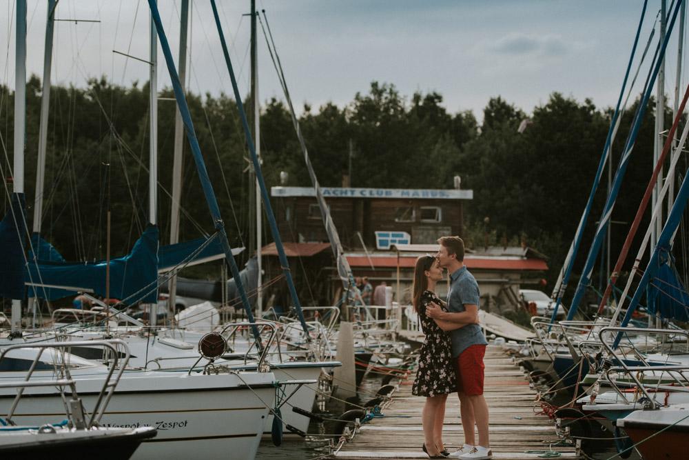sesja w porcie jachtowym