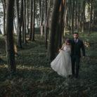sesja ślubna w nadmorskim lesie