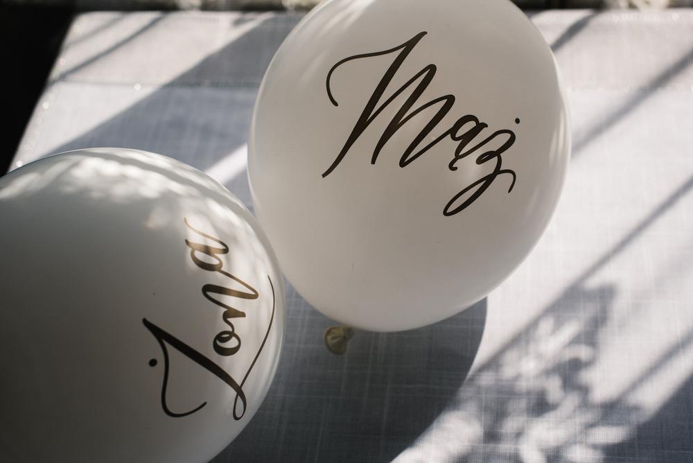 żona i mąż balony